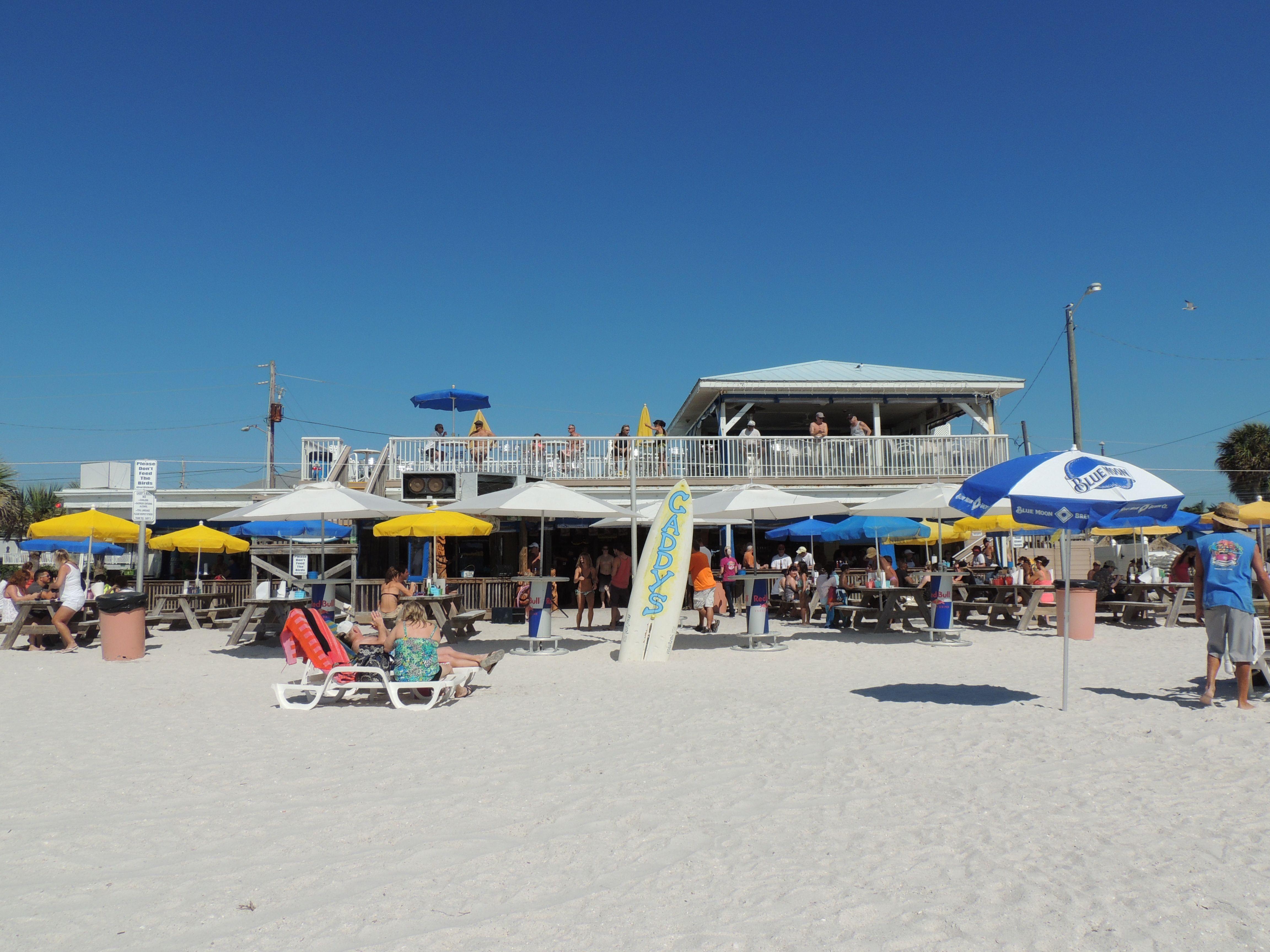 Caddys bar and grill sunset beach treasure island