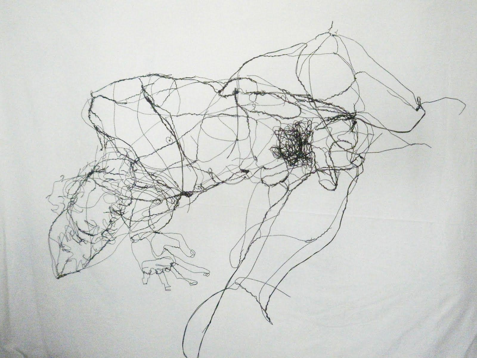 3d Line Drawings : It is a bit like egon schiele but then d david miguel oliveira
