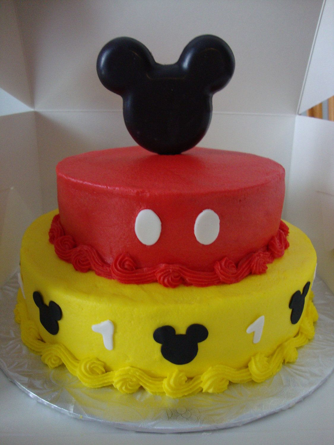 Edible Chocolate Mickey Mouse Ears Cake Topper Kit 12 99 Via