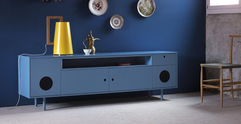 Madia Porta Tv Design.Design Paolo Cappello Madia Porta Tv Con Impianto Stereo