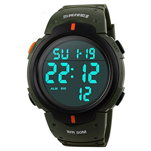 Gosasa Simple Sport Watch Display Watch Outdoor Men Watch Student Multifunction Digital Watch >>> Be sure to check out this awesome product.Note:It is affiliate link to Amazon.