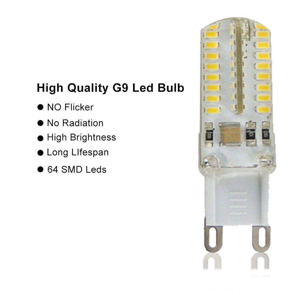 Modoao 5 Pack G9 Light Bulb 64 Leds Corn Lamp 3 5w 300lumen Smd 3014 Ac 110v Cool White Not Dimmable Daylight Bulb For G9 Led Bulb Daylight Bulbs Halogen Bulbs