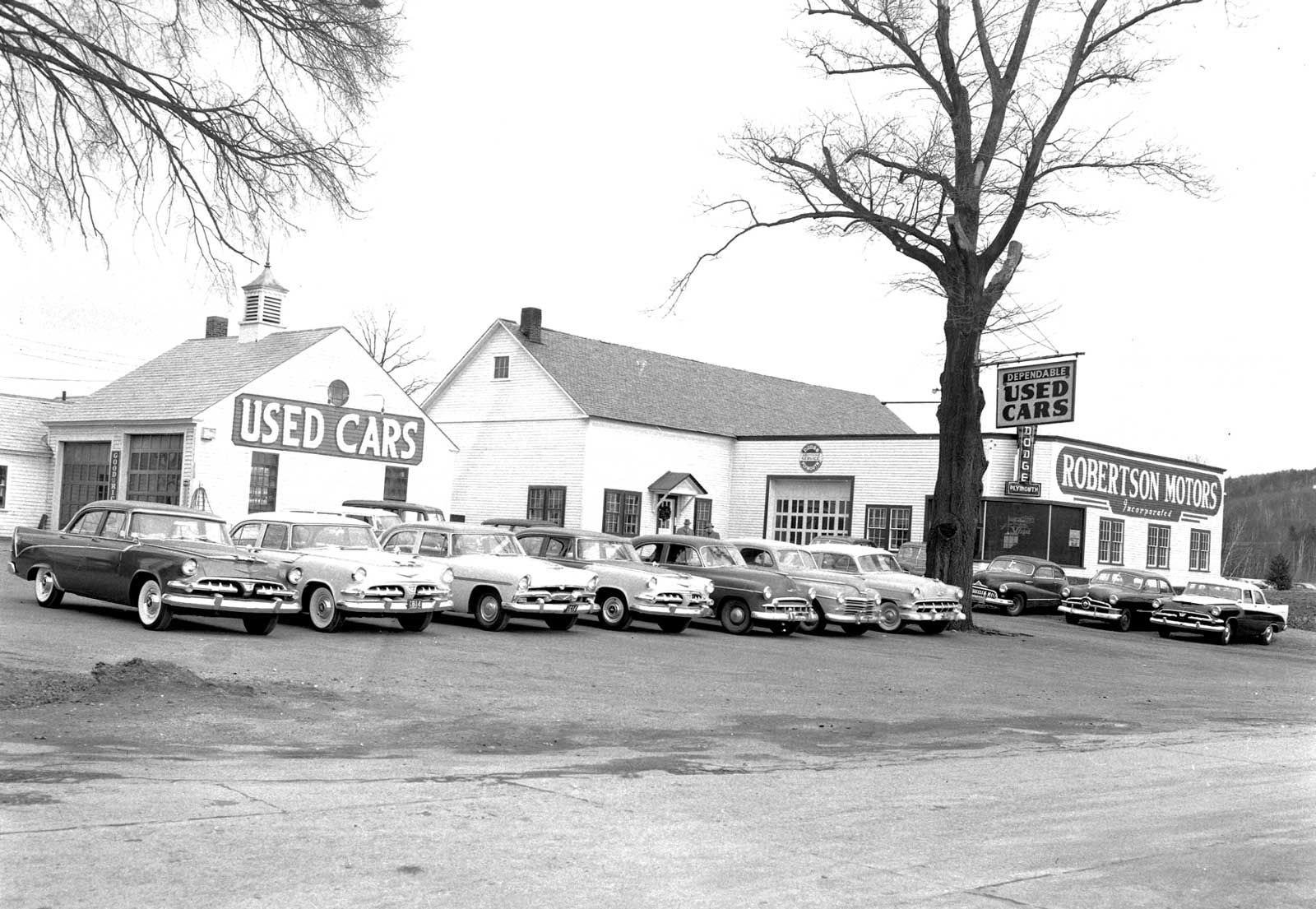 1950s New And Used Car Dealerships In Brattleboro Vermont The Old Motor Car Dealership Used Cars New Trucks