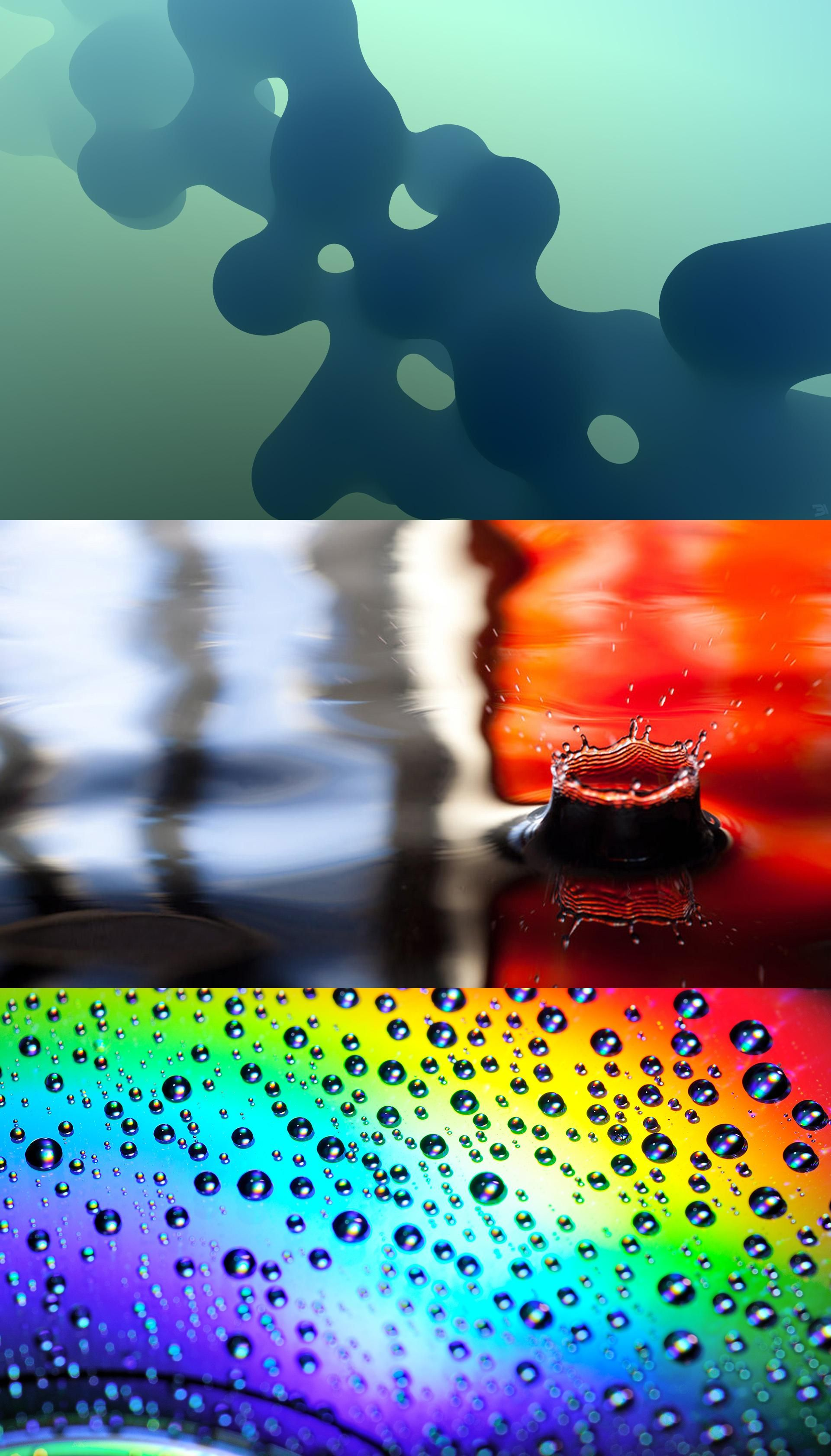 wallpaper, abstract, rainbow, drops, bright, wallpapers