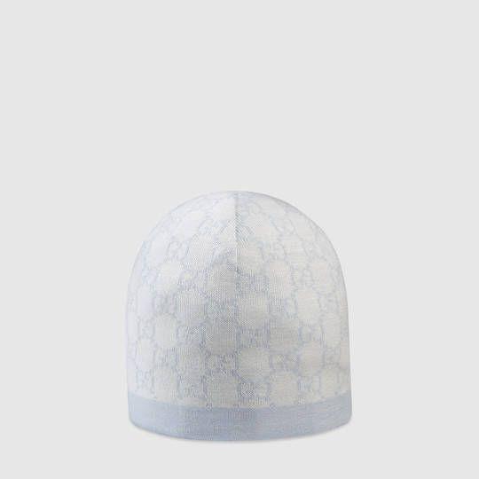 bbc0d384674 Gucci Baby GG pattern wool hat