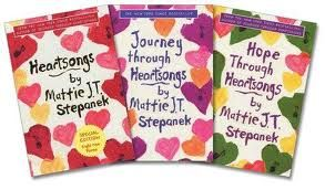 """I love every book by Mattie J.T. Stepanek.  The sincerity and love in his poetry warms the heart and soul of his readers.  If you are a Heartsongs fan, check out """"Reflections of a Peacemaker"""" by Mattie's mother Jeni Stepanek.  Pictures, poetry and his biography, seen through a mother's eyes."""