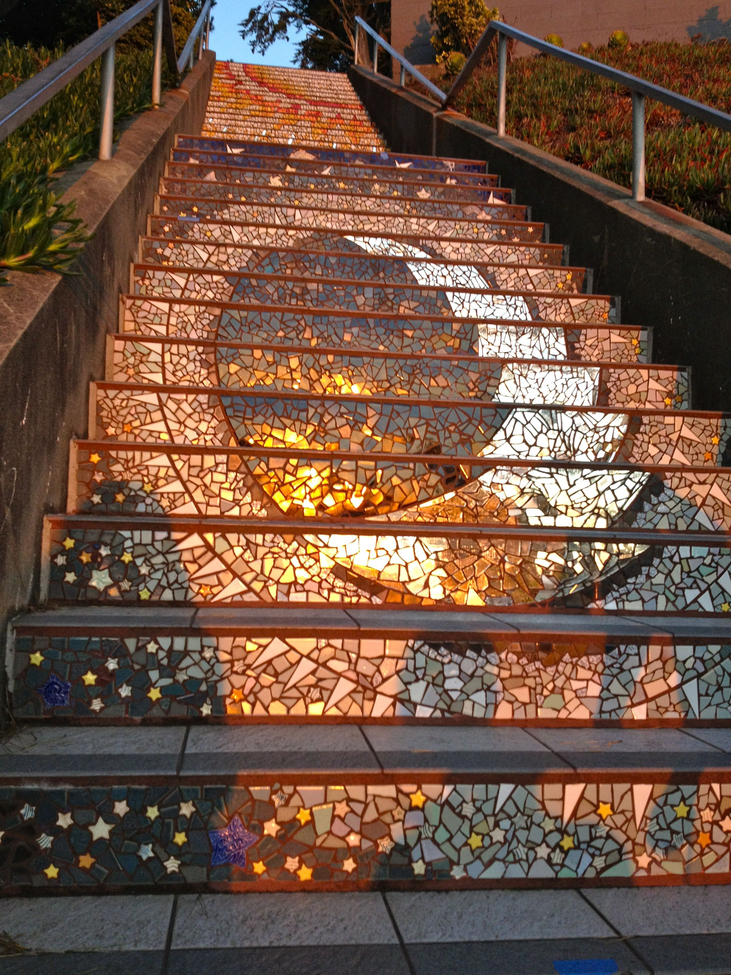 Nice Mosaic Tile Stairs   Google Search