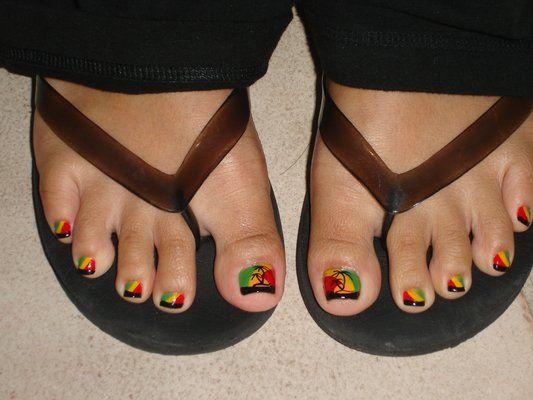 Rasta Nail Designs Google Search Nails Pinterest Rasta