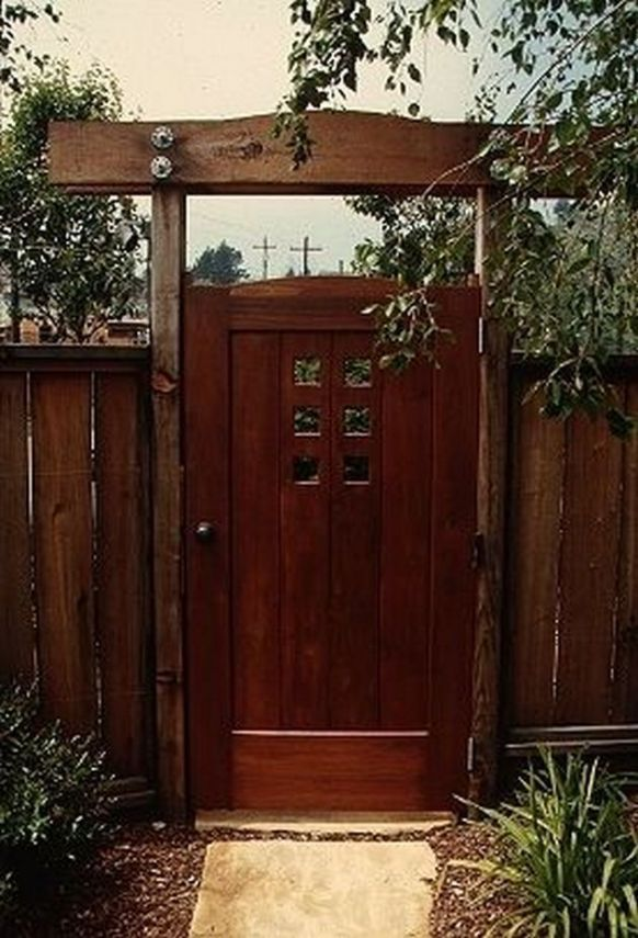 50 Fascinating Wooden Garden Gates Ideas13