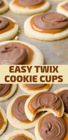 EASY TWIX COOKIE CUPS