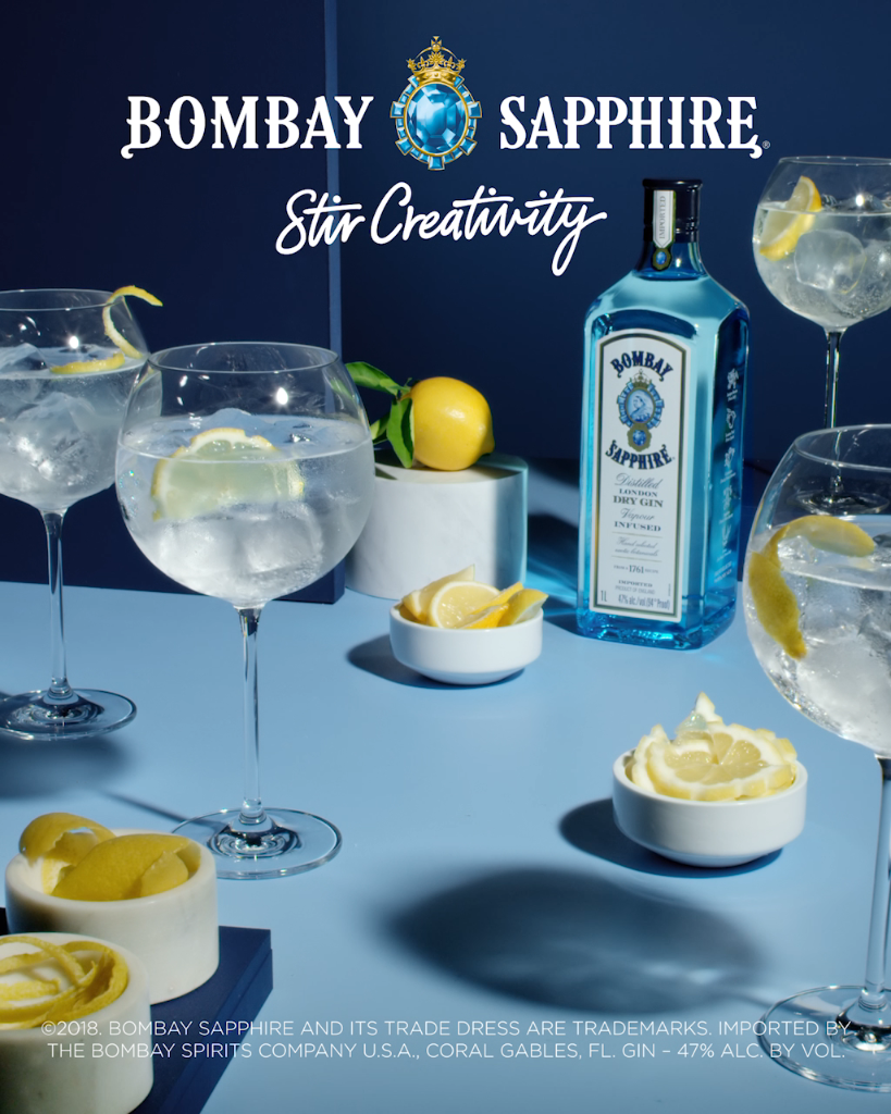 Bombay Gin Tonic 1 Part Bombay Sapphire Gin 2 Parts Fever Tree Tonic Water And 1 Whole Lemon Video Gin Recipes Gin Cocktail Recipes Liquor Recipes