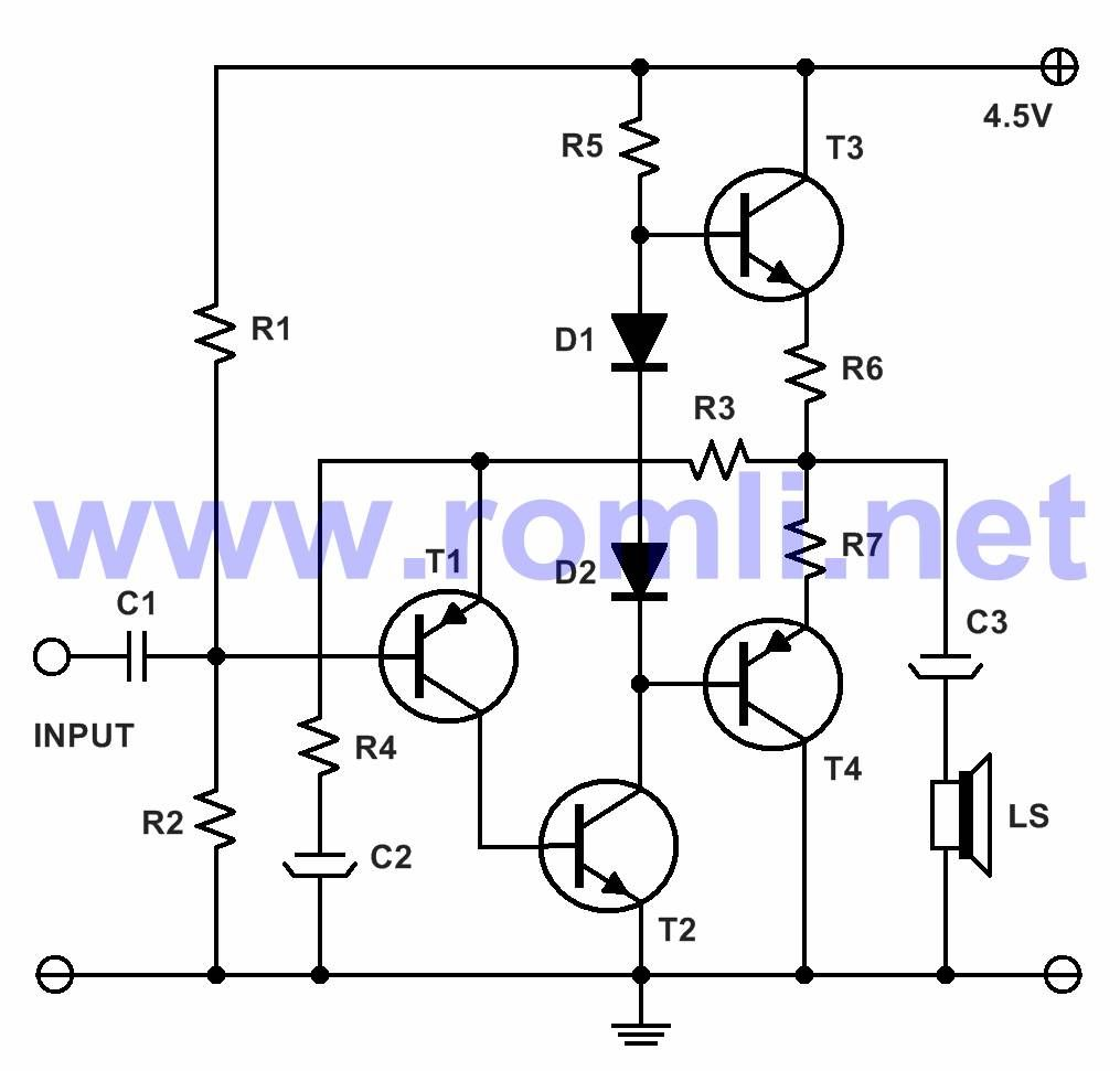 Mini Amplifier With Transistor Electronic Schematics Pinterest 2 Lamp Flasher Using Mosfet