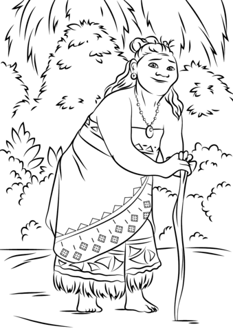 Gramma Tala From Moana Coloring Page Category Select 28148 Printable Crafts Of Cartoons Nature Animals Bible And Many More
