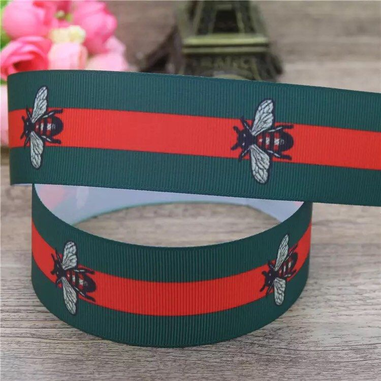 Excited To Share This Item From My Etsy Shop Gucci Ribbon Gg Ribbon Designer Ribbon Ribbon Green Stripes Etsy Trends