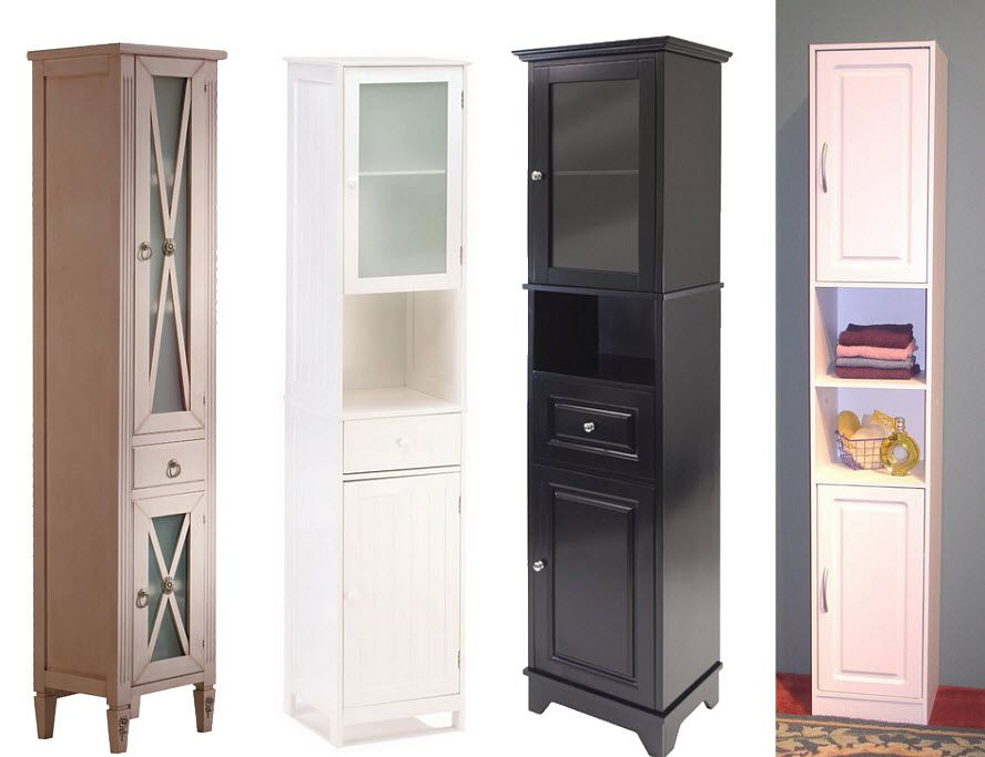Tall thin cabinet google search ideas for feet and top - Tall bathroom storage cabinets with doors ...