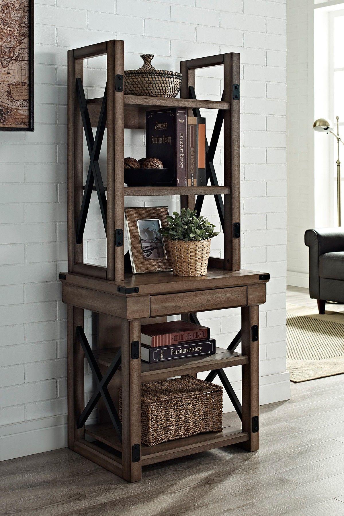 Altra furniture wildwood metal frame rustic audio pier