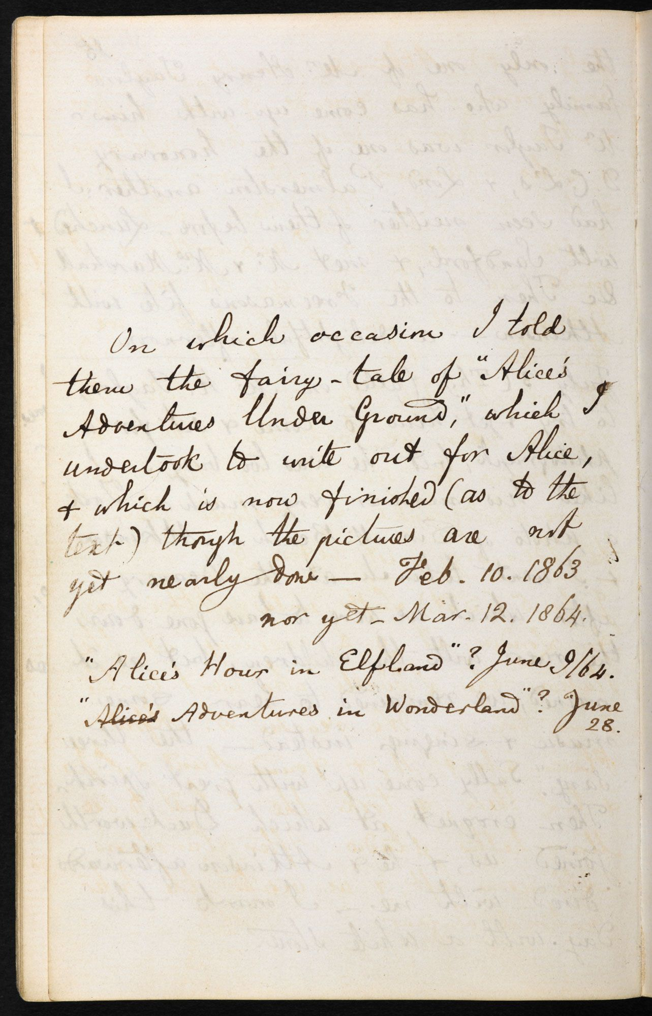 Lewis Carroll's diaries on telling the story of #AliceinWonderland for the first time. Explore this item on the British Library website.