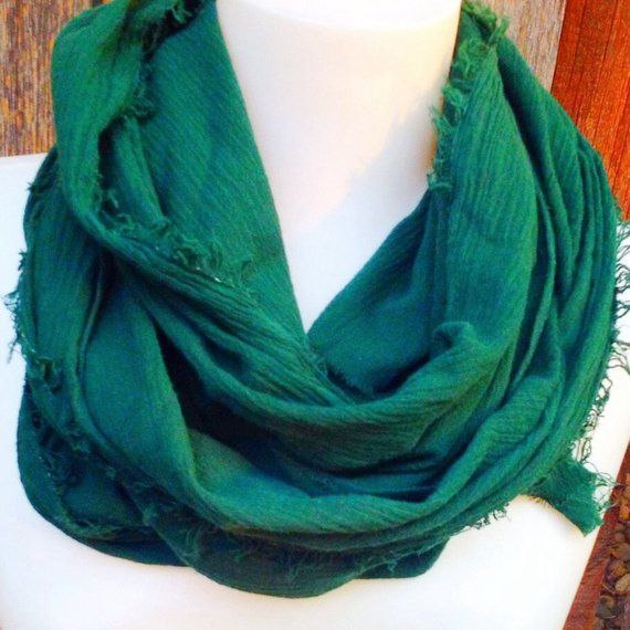 Green Fall Boho Scarf, Light cotton #mensscarves