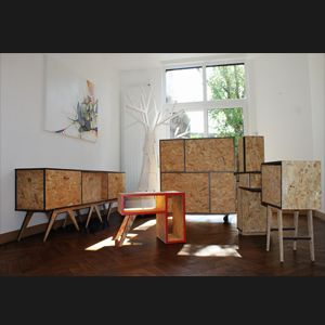 Des Meubles Ecologiques Sur Mesure En Osb Design Avec Une Touche Vintage Idee Deco Maison Deco Maison Mobilier De Salon