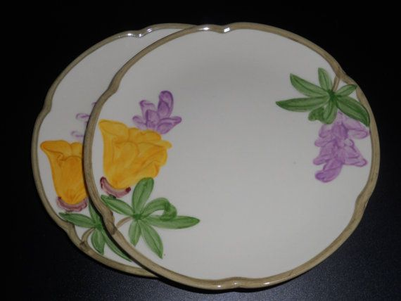 Franciscan California Poppy - Vintage Plates - Bread and Butter ...