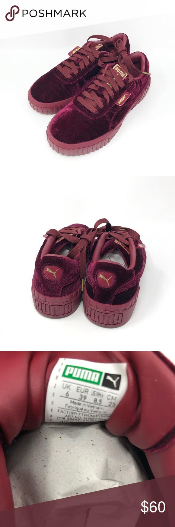 Puma Cali Velvet Sneakers Tibetan Red