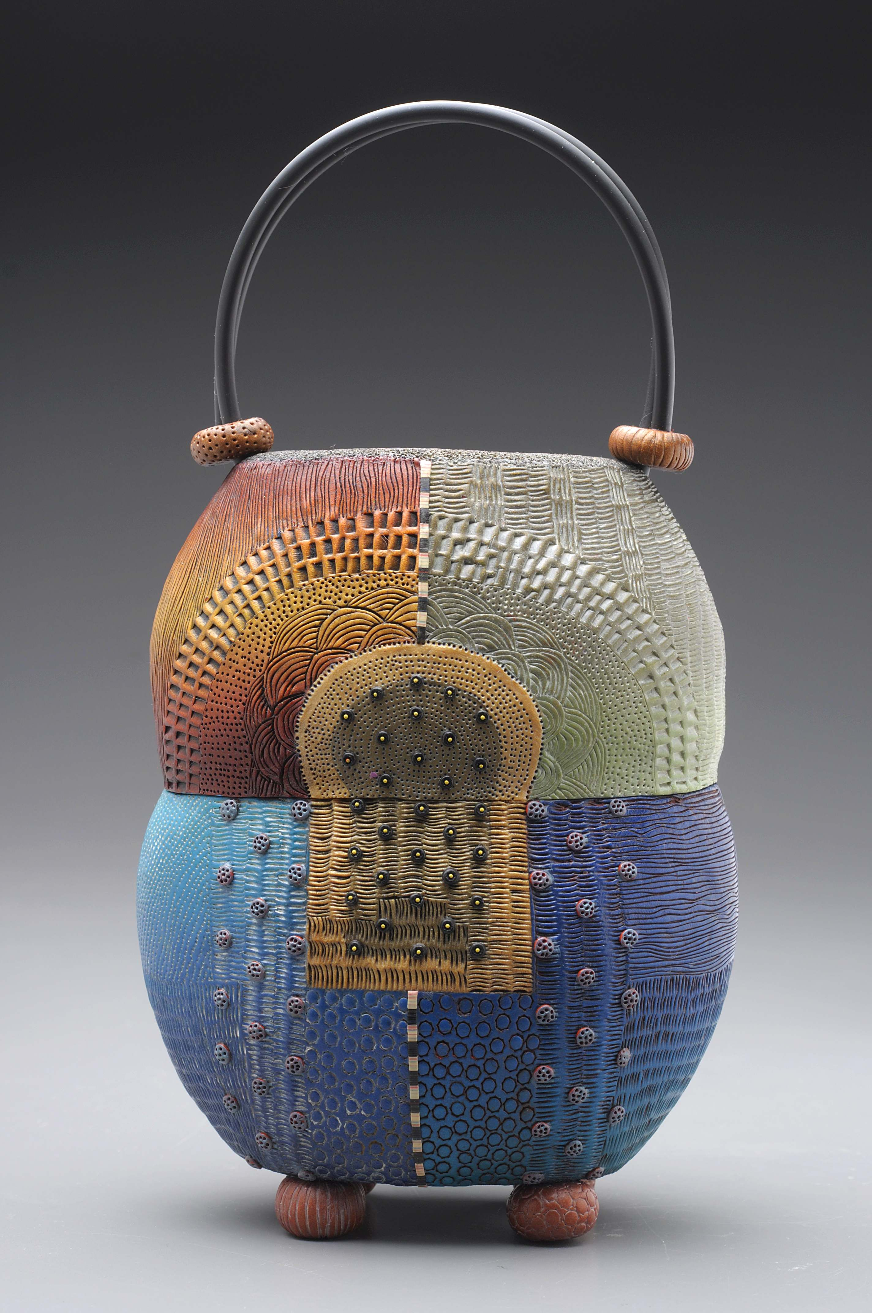 Amasya Purse Of Colored Polymer Clay With Intricately
