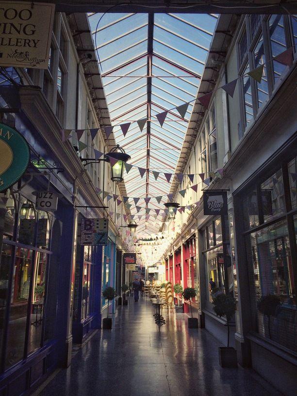 Cardiff, Wales — by Elena Pana. Beautiful #arcade in #Cardiff