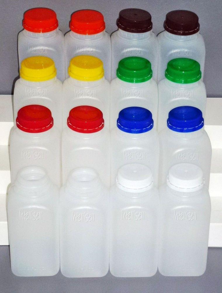 415bb47d19c8 Details about 20 8oz. HDPE Plastic Juice Bottles Twist Lid ...