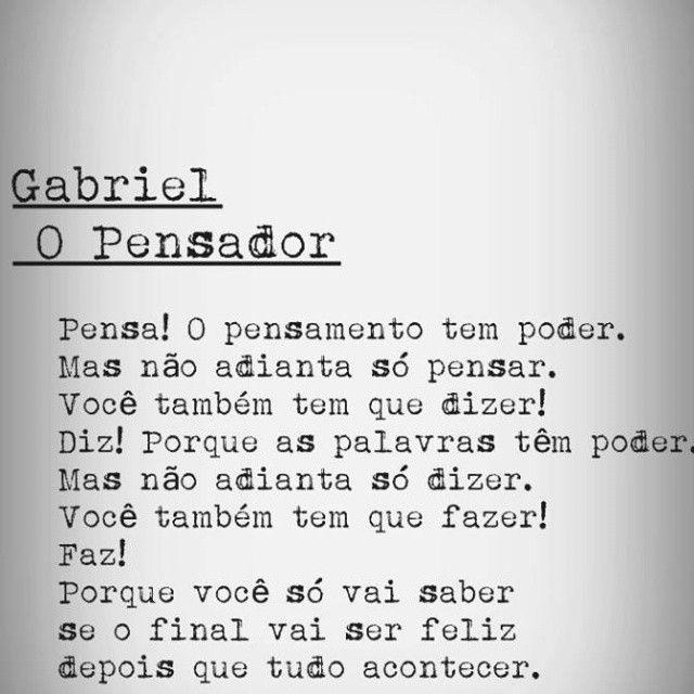 Conhecido Gabriel, o Pensador   Frases, textos, livros, filmes e músicas  CL72