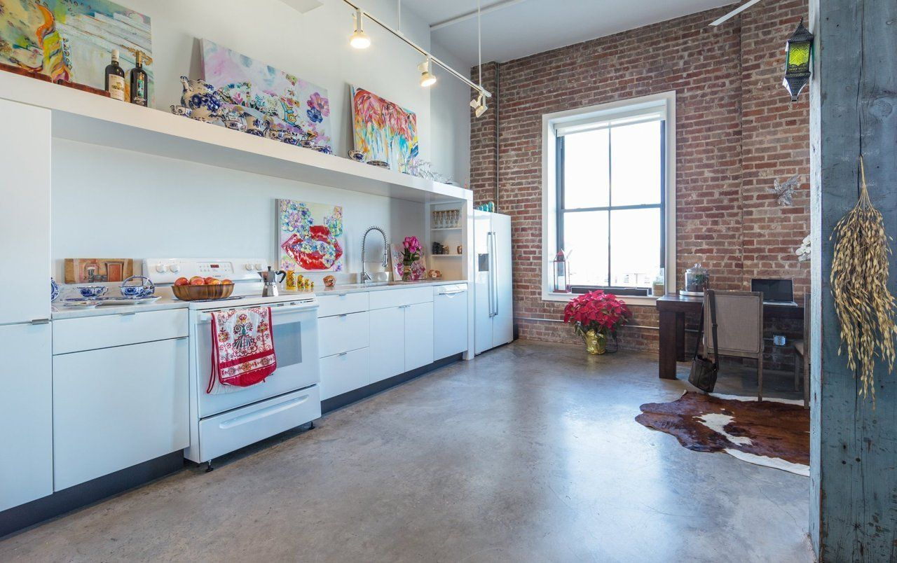 Olesya's Colorful New Orleans Studio in a Converted Rice Mill