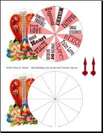 cupid's wheel of fortune is an adaptation of a 1923 parlor game, Powerpoint templates