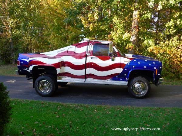 I Pledge Allegiance To The Flag Truck Paint Jobs Chevrolet Truck Paint