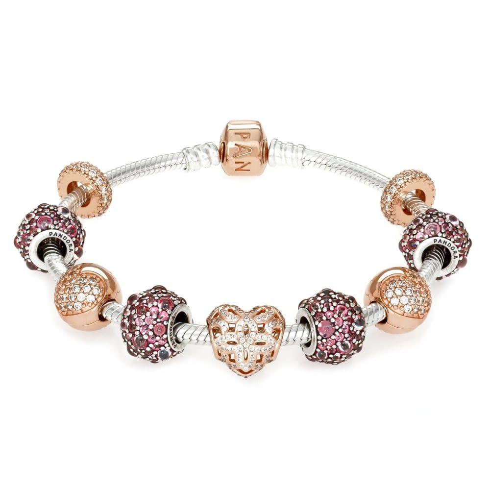 Pandora rose perfect romantic moments gift bracelet romantic