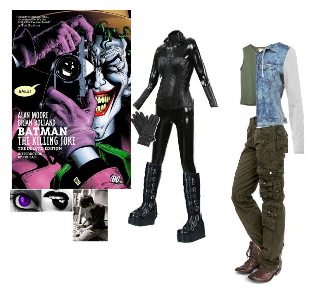 """""""me in batman: the killing joke animated movie"""" by j-j-fandoms ❤ liked on Polyvore featuring Charlotte Russe, Mia Limited Edition, Demonia, b.tempt'd by Wacoal, Mur Mur and Causse"""