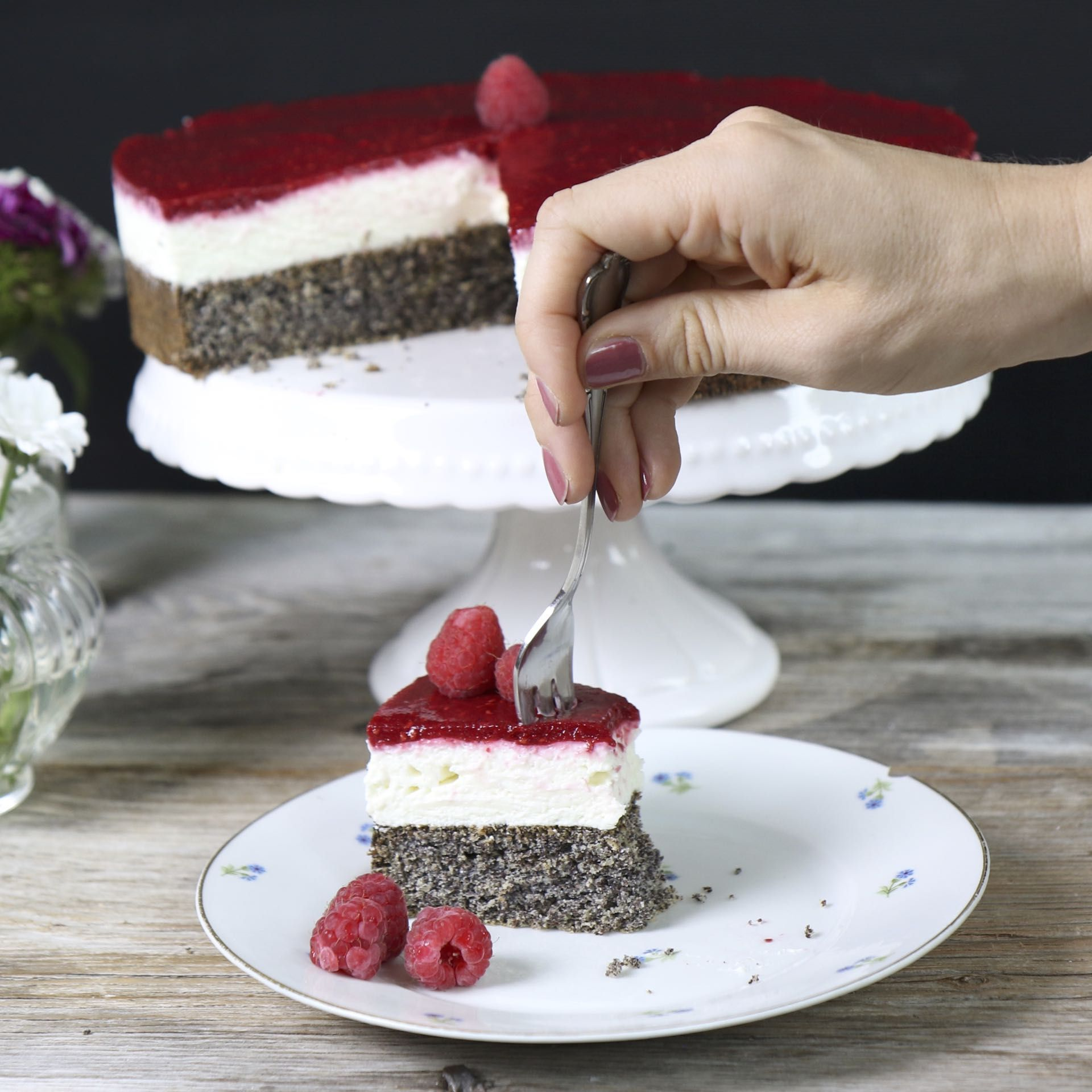 Topfen Mohn Torte Low Carb Rezepte Vegetarisch Gesunde Rezepte