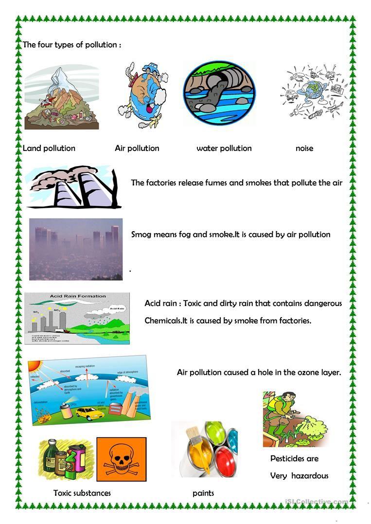 Pollution Worksheet Free Esl Printable Worksheets Made By Teachers Okul Hava Kirliligi [ 1079 x 763 Pixel ]