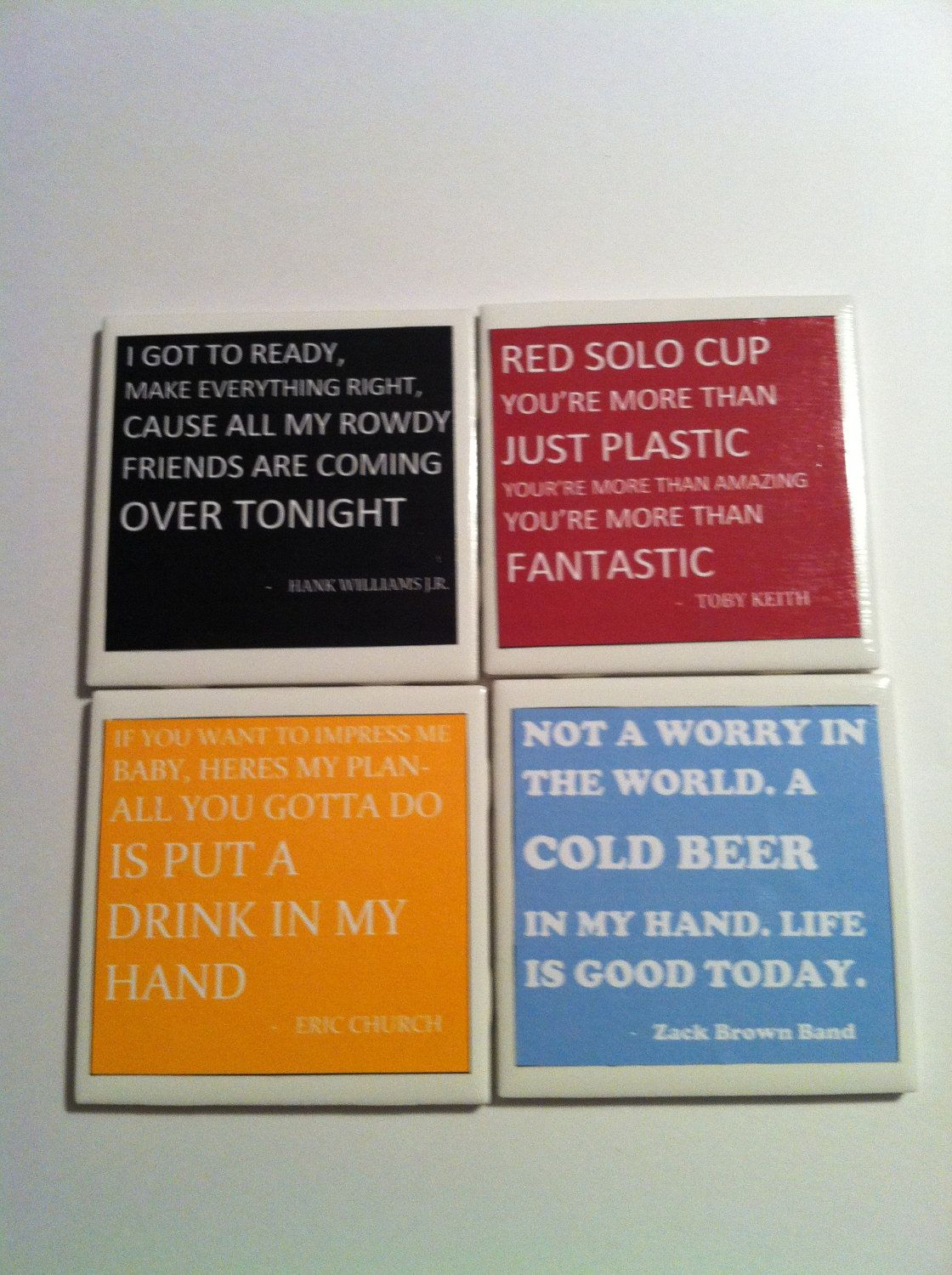 Country Song Quote Coasters By Esydesignes On Etsy 10 00
