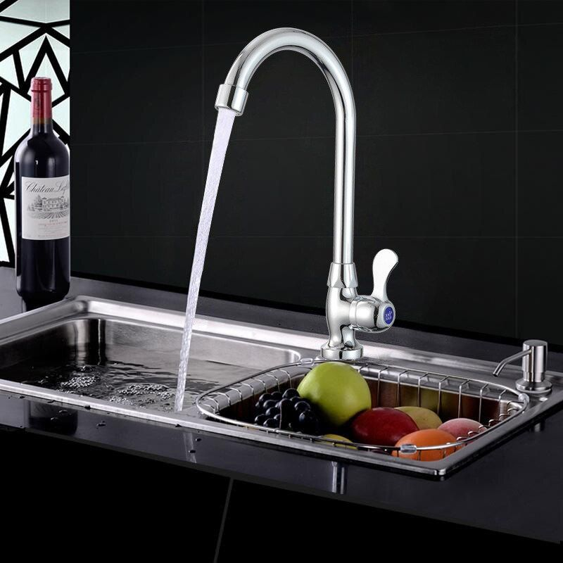 Photo of Newly Bath Basin Water Tap Kitchen Faucet copper Bathroom Accessories  Water Faucet Tap with Single