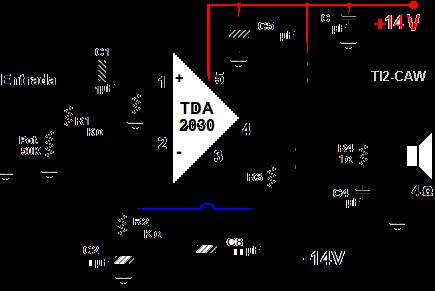 amplificador tda2030 fuente dual | Hubby Project | Pinterest | Elektro