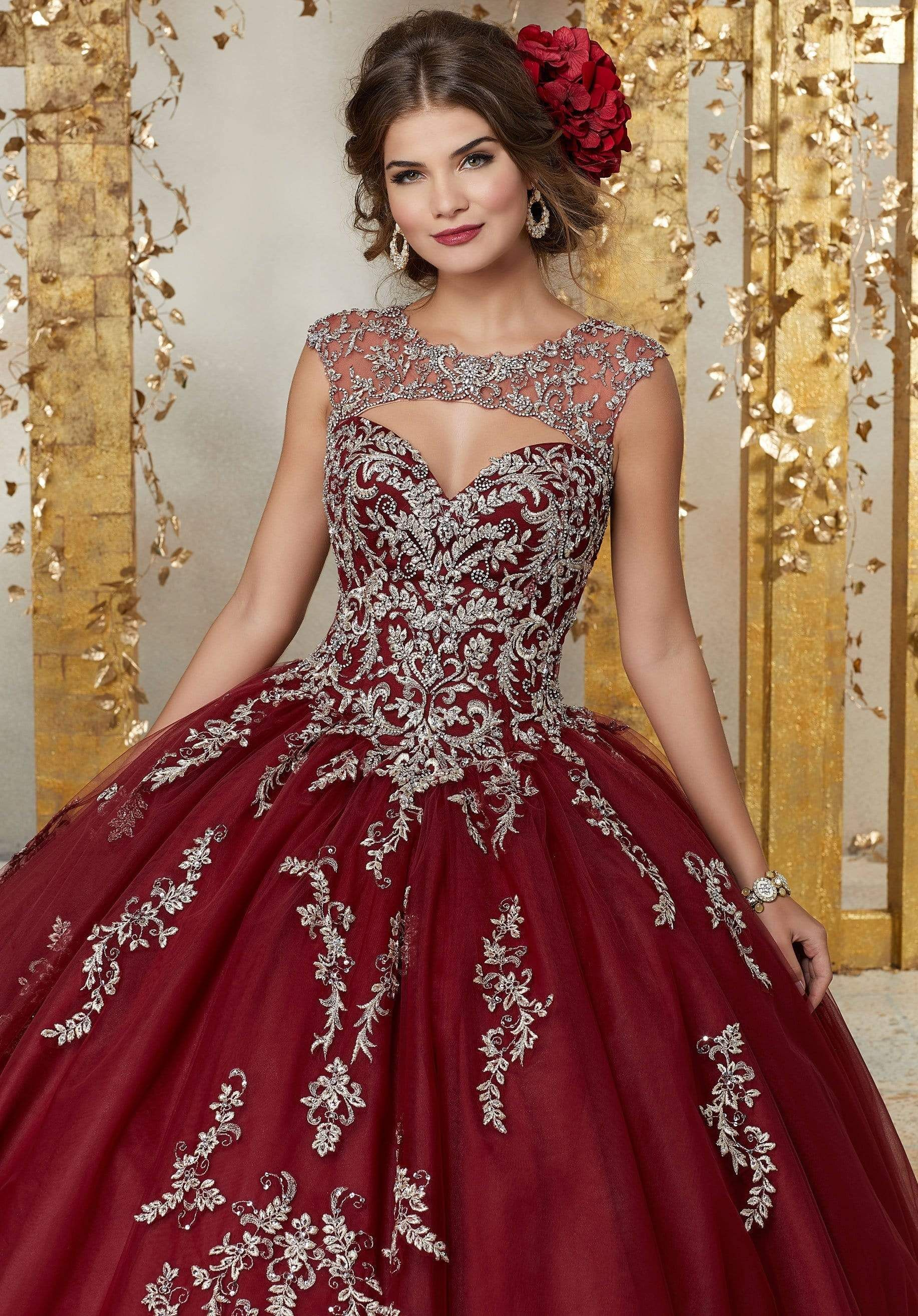 Vizcaya By Mori Lee 89225 Illusion Cutout Bodice Tulle Ballgown Quinceanera Dresses Dresses Ball Gowns [ 2630 x 1834 Pixel ]