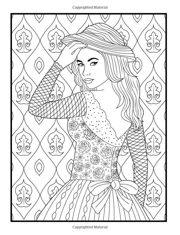 Beautiful Dresses An Adult Coloring Book With Women S Fashion