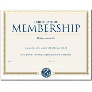 Active Member Certificate  Kiwanis    Certificate