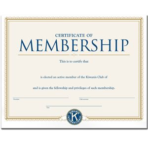 active member certificate