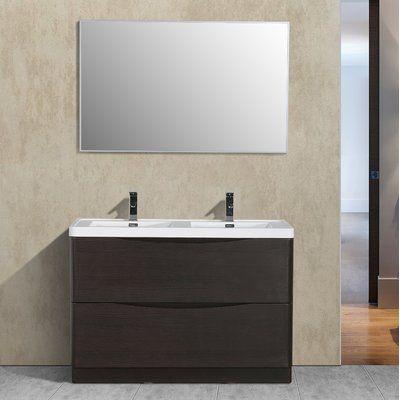 Orren Ellis Narendra 48 Double Bathroom Vanity Set Vanity Set