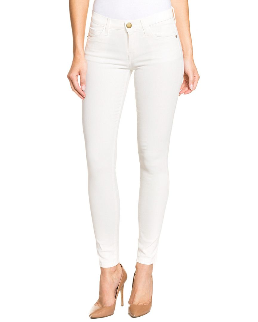 Current/Elliott The Ankle Skinny White Coated Skinny Leg is on Rue. Shop it now.