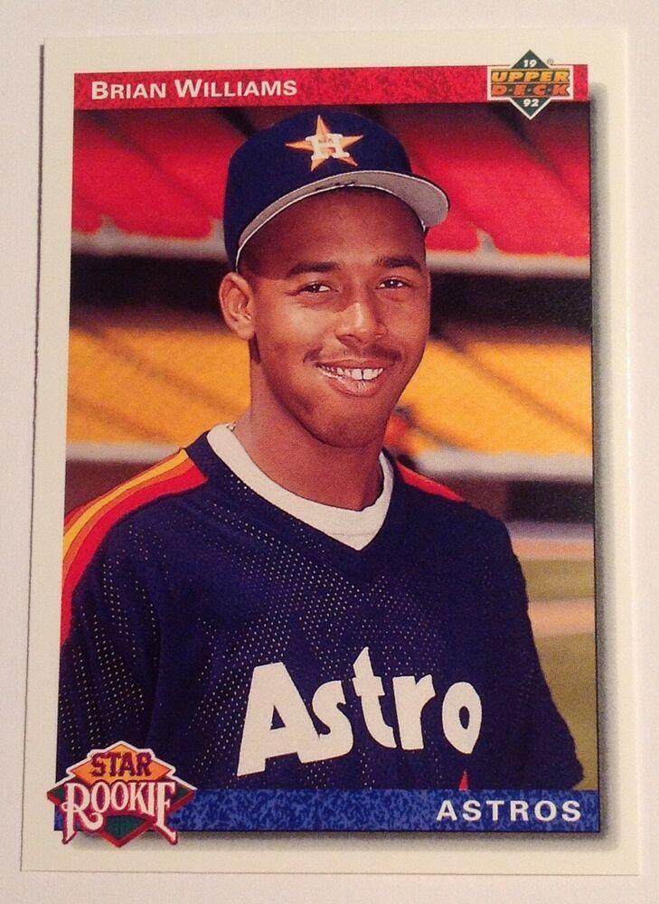 1992 upper deck brian williams star rookie astros 23