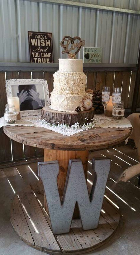 Low Budget Rustic Wedding Diy Candles Mason Jar Vases Thrift Lace Fabric For Tables Wood Base Cake Champaign Gles