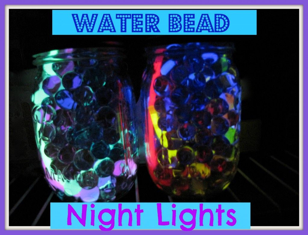 Water Bead Night Light Jars