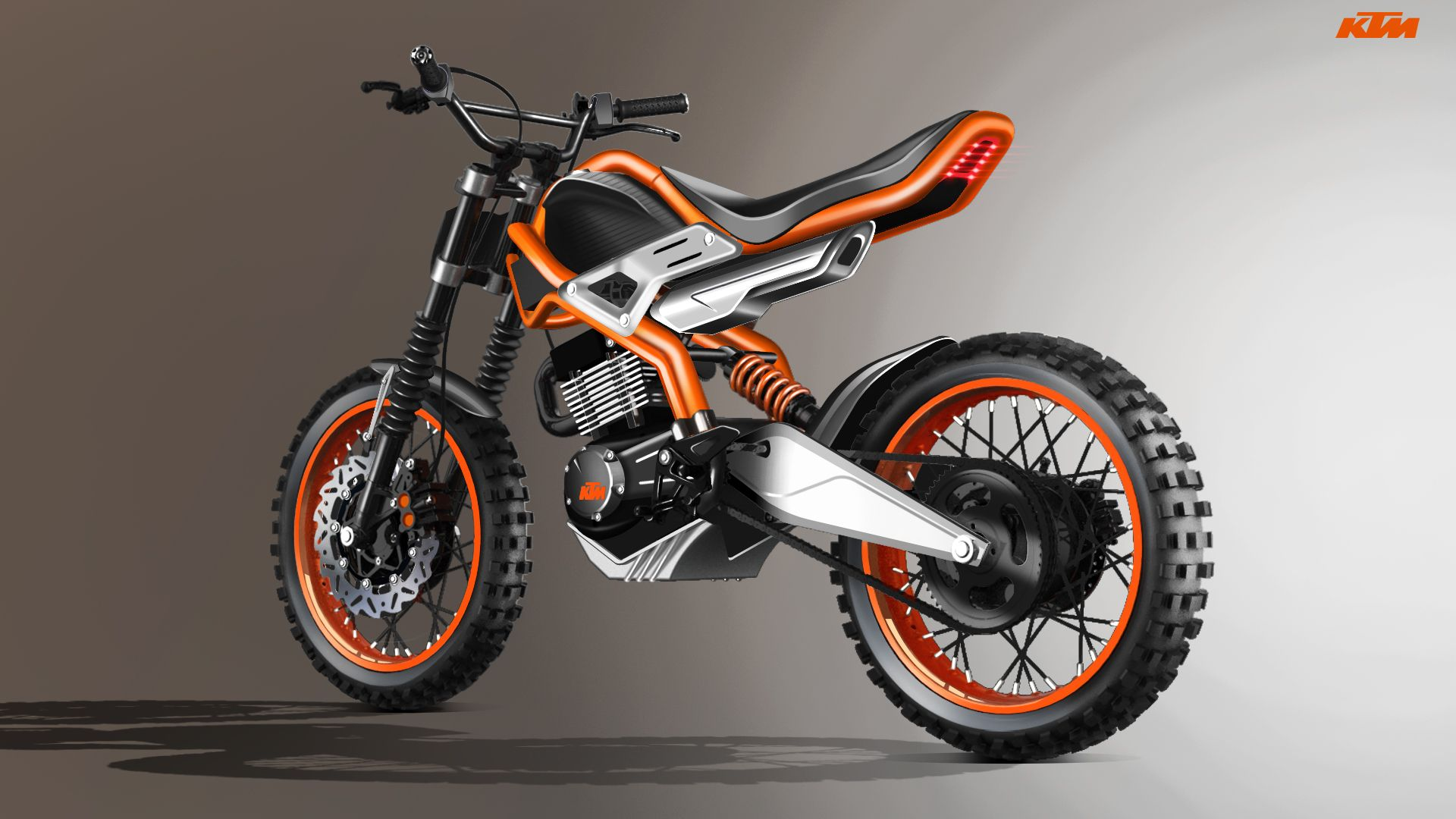 Ktm 135 Scrambler A Low Cost Motorcycle For India On Behance Sepeda Kendaraan Motor Jalanan