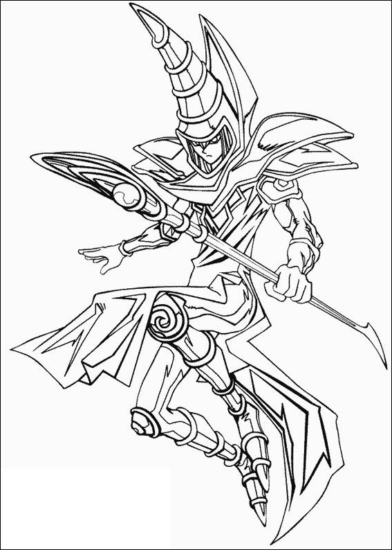 Line Art Là Gì : Yu gi oh magic monster card coloring picture for kids